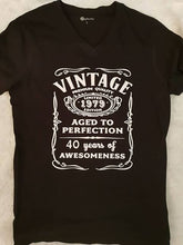 Vintage aged to perfection birthday t-shirt