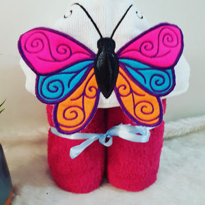3D Butterfly Hooded Towel