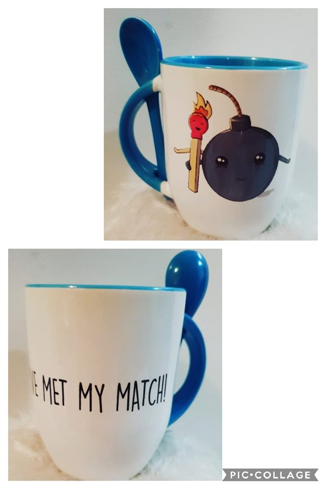 Ive met my match Coffee Mug with spoon