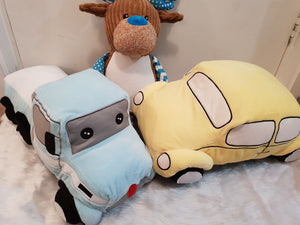 Spotto The Yellow Beetle Car teddy/pillow