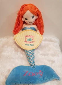 Cuddly Personalised Dolls mermaid/fairy