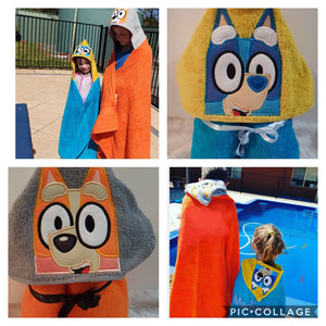 Bluey and Bingo Hooded Towel