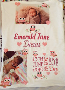 Personalised Photo Baby Blankets
