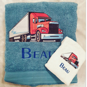 Semi Truck Towel Set