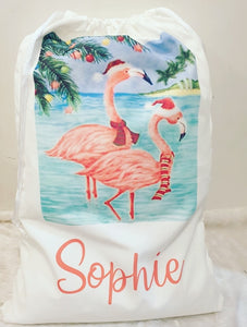 Flamingo Christmas Sack