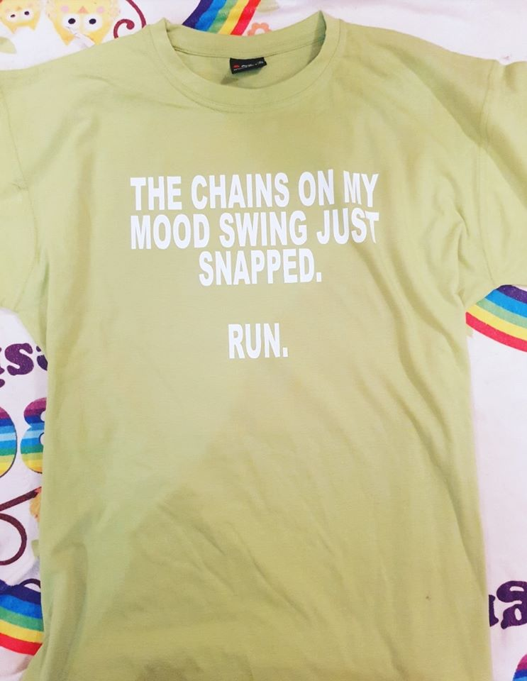 The chain on my mood swing tshirt/singlet