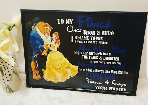 Beauty and the Beast Valentines day Frames
