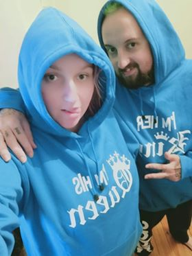 Im her king , im his queen matching hoodies