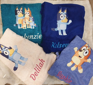 Bluey personalised towel