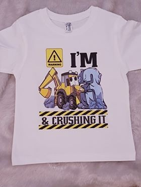 I'm 3 & crushing it birthday tshirt
