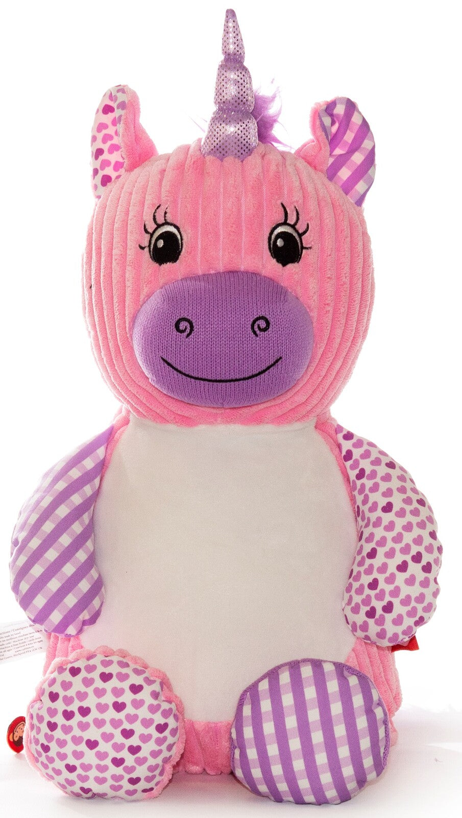 Harlequin Unicorn pink/purple teddy