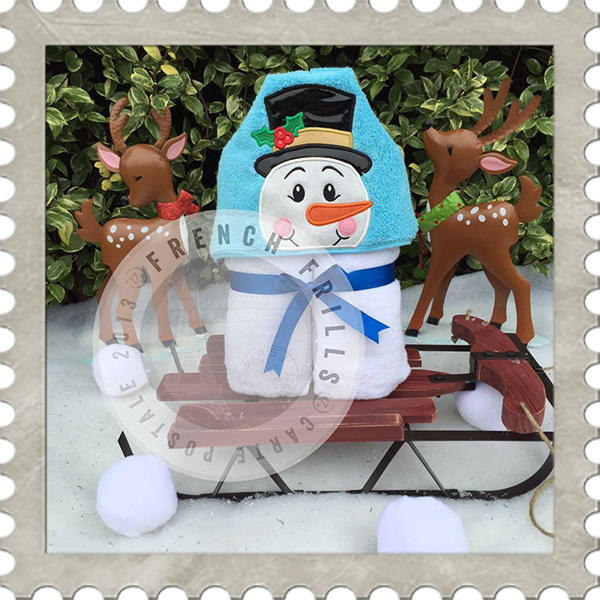 Snowman  Hooded Towel