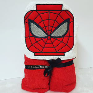 Spider hero lego hooded towel