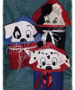 101 Dalmatians Puppy  Hooded Towel