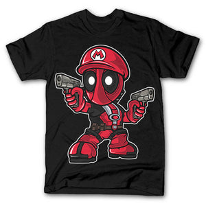 Mario Deadpool Tshirt