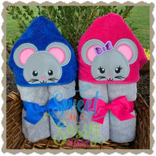 Mouse Boy and girl Hooded Towel