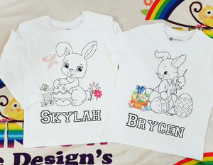 Colour me in easter tshirts