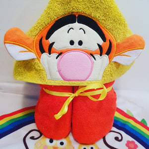 Pooh bear and pals  Hooded Towel