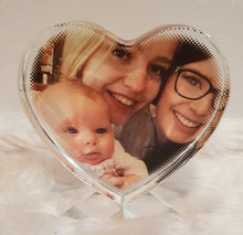 Glass Crystal Photo Block stand Personalised