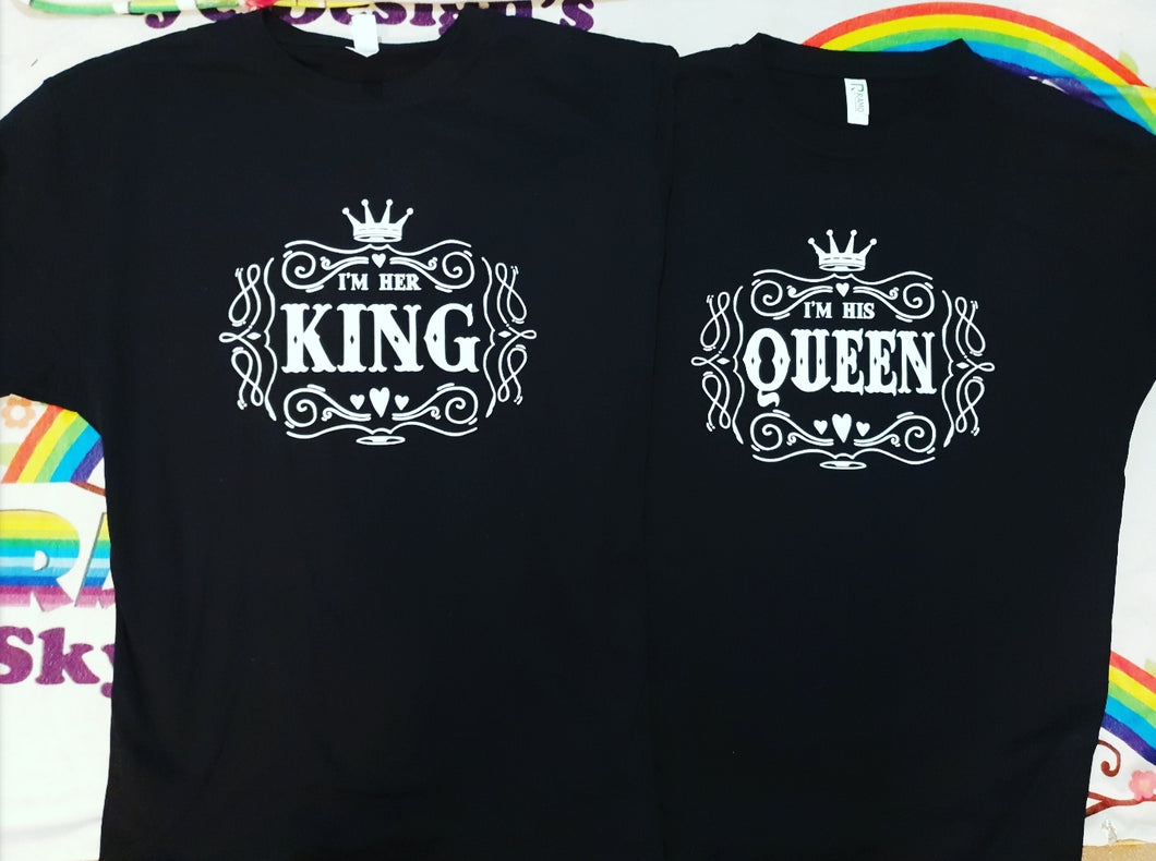 His queen, her king matching t-shirts