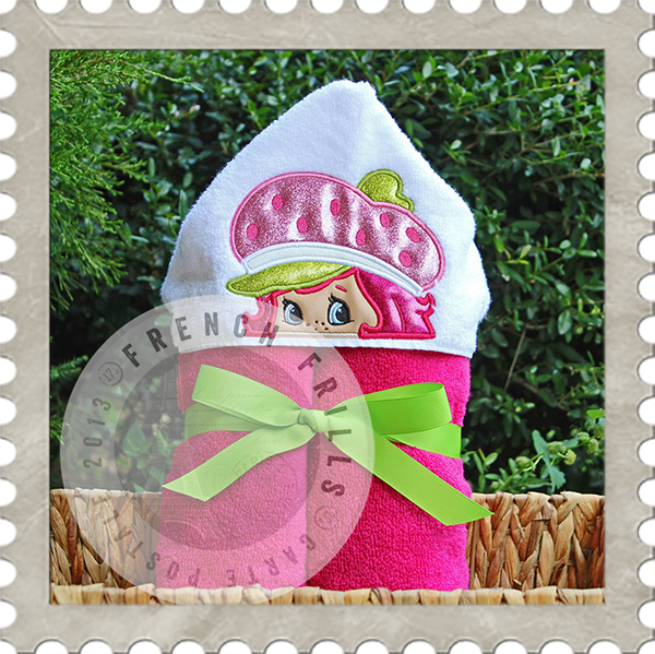 Strawberry Girl Hooded Towel