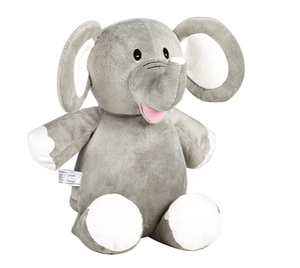 Elle the Elephant Pink,Blue, Purple,Grey