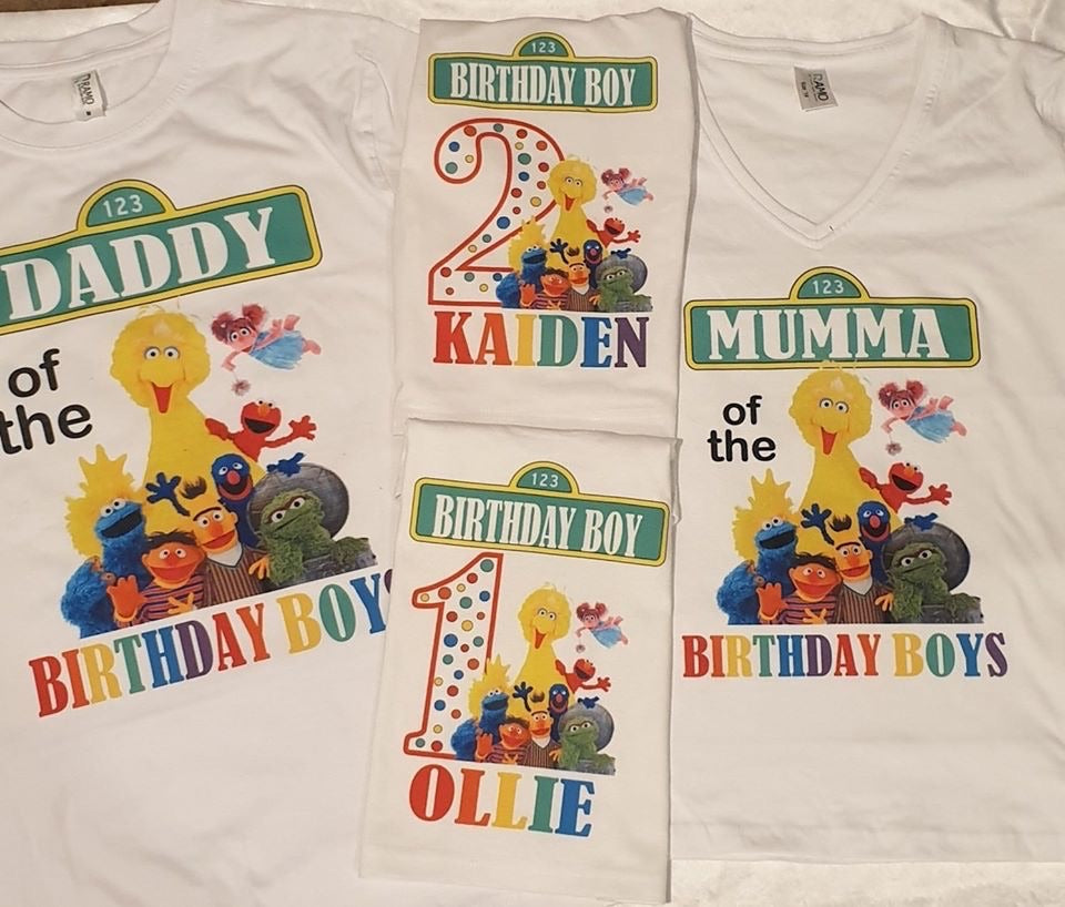 Sesame Street birthday Tshirt Pack Birthday/Celebration