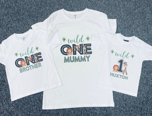 Wild one Custom Tshirt Pack Birthday/Celebration