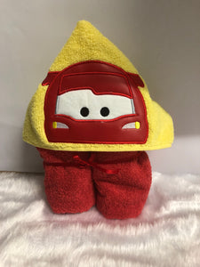 Racing Car Hooded Towels.
