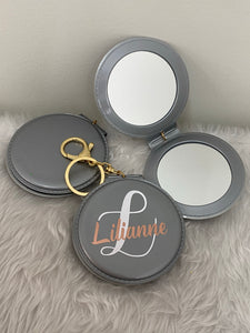 Compact key ring mirrors