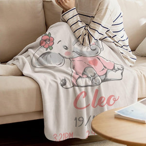 Elephant baby Custom Blanket