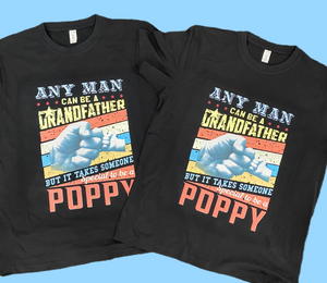 Any man can be a grandfather mens tshirt