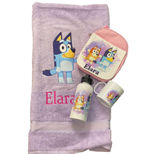 Bluey lunch pack and towel