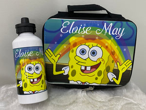 Spongebob Lunch Box and Drink Bottle