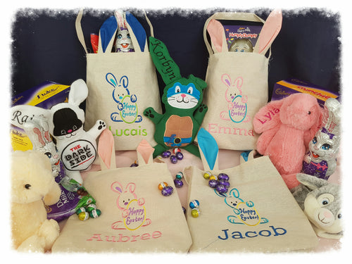 Personlised Easter Bags.