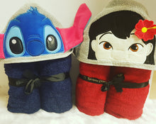 Lilo and stitch hooded towels