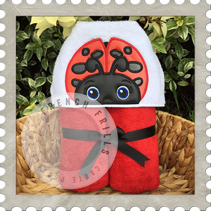 Lady Bug and bee Hooded Towel