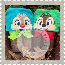 Chipmunks Hooded Towel