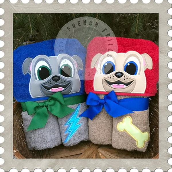 Puppy Pals Hooded Towel.