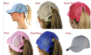 Ponytail Messy Personlised Womens Bun Cap