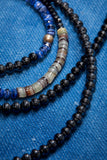 SHADES OF BLUE ULTRA LONG WRAP-AROUND NECKLACE