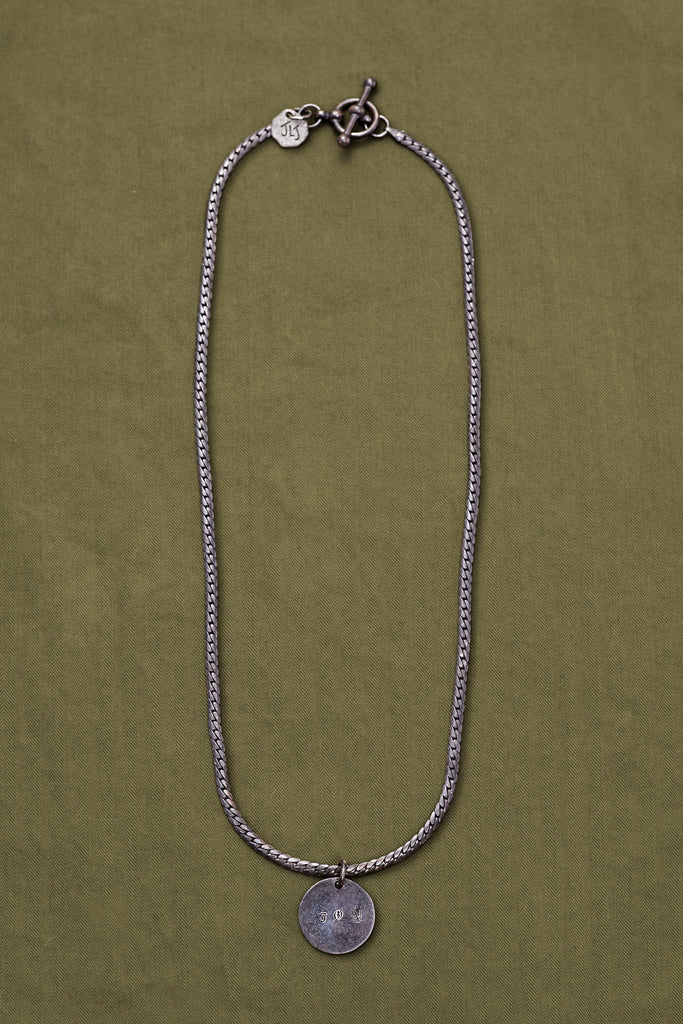 OXIDIZED STERLING SILVER JOY CHAIN NECKLACE