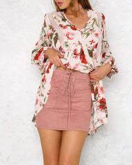 Simply Blush Suede Skirt
