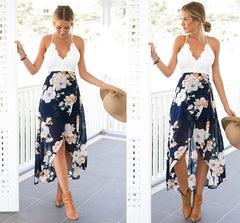 Up Up and Away Off White Lace Maxi Dress