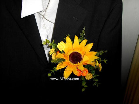 Artificial Sunflower Corsage   - ZZR0412