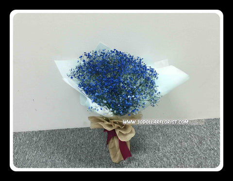 Blue Baby Breath Bouquet - ZZR3606