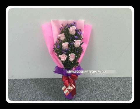 Pink Rose Bouquet III- val1187