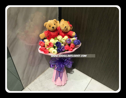Small n Cute Bear Bouquet    - val2040