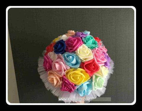 Colourful Artificial Rose Bouquet   - ZZR0369