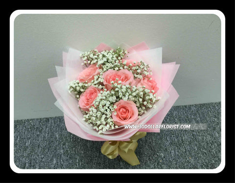 Pink Rose Bouquet     - val1185